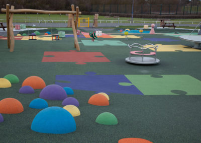 Wet pour playground surfacing colourful