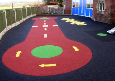 Road Wet Pour Markings