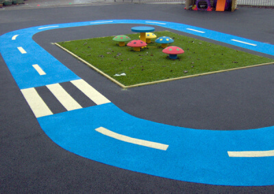 Wet Pour Playground Markings
