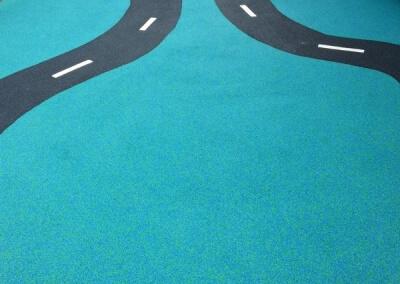 Nursery road wet pour markings