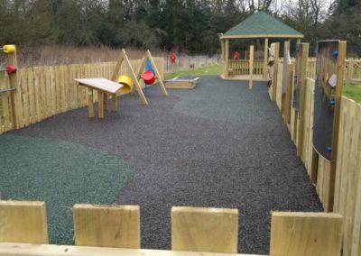 Rubber mulch school playground