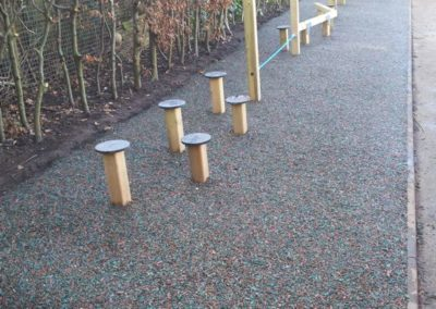 Bonded rubber playground trail surfacing