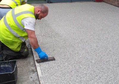 Installing resin bound gravel