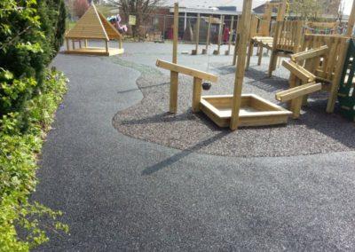 Birmingham Primary School bonded rubber mulch play area