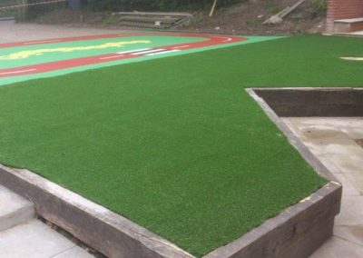 Artificial grass Chiddingstone Primary School Kent