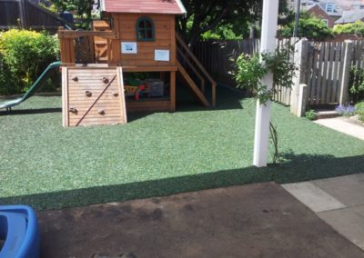 Bonded rubber playground Cygnets Nursery Green mulchbond