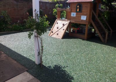 Bonded rubber mulch playground Cygnets Nursery