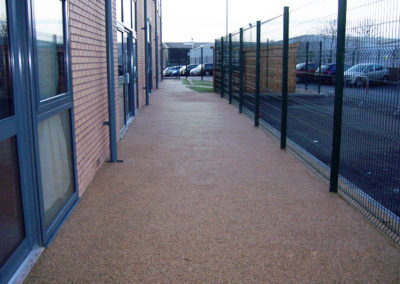 Resin bound gravel walkways