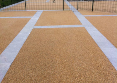 Resin bound  gravel outside design