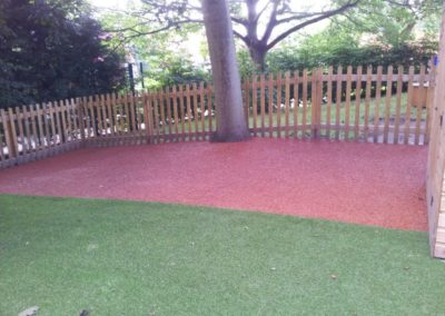 Scotholme Primary School Nottingham Bonded rubber mulch