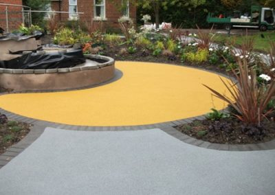 Yellow and Grey garden surfacing