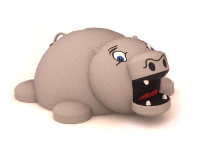 Hippo 3D Animal