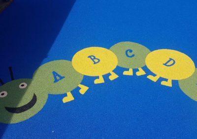 St Dunstans Wet Pour alphabet