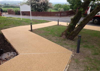 Resin Bound Gravel Surfacing Pavement