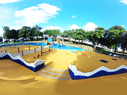 Belvedere Splash Park, Wet Pour Surfacing