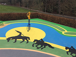 Wilton Lodge Adventure Playground, Play Surfacing