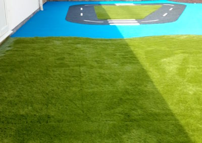 Artificial Grass at a Nursery