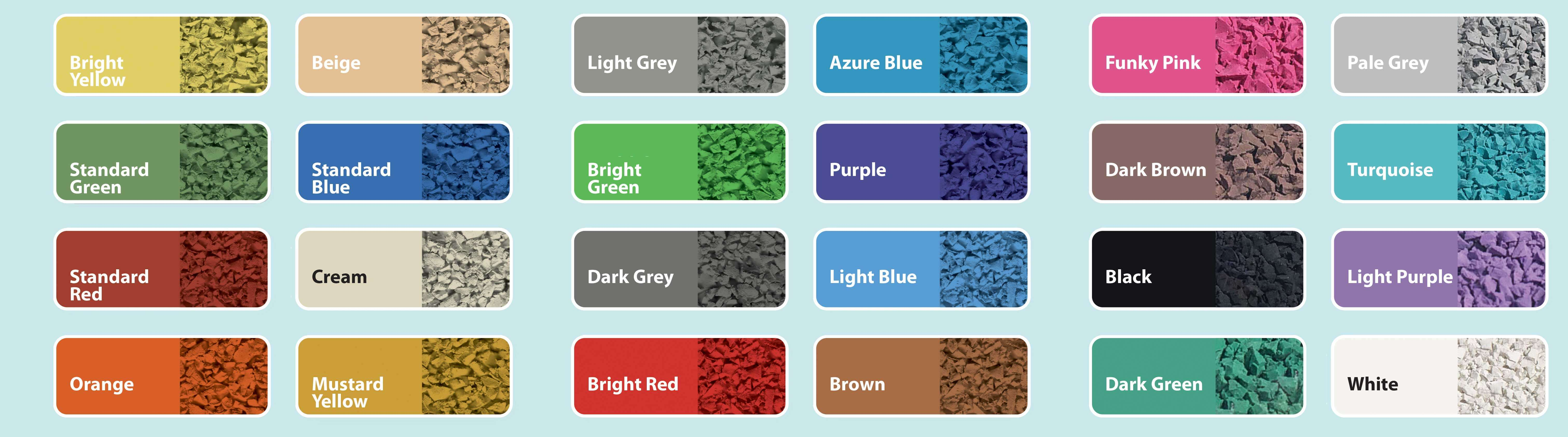 Wetpour Colour Chart